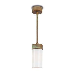 Moretti Závesná lampa Silindar 3358 mosadz/opál
