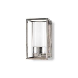 Moretti Vonkajšie nástenné svetlo Cubic³ 3365 nikel/opál