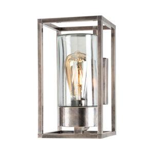 Moretti Vonkajšie nástenné svietidlo Cubic³3364 nikel/číra