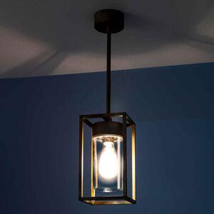 Moretti Závesná lampa Cubic³ 3368 mosadz/číra