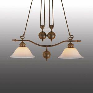 Menzel Menzel Anno 1900 dvoj-plameňová závesná lampa