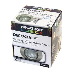 MEGATRON Zapustené LED svetlo Decoclic Set GU10 4,5W železo