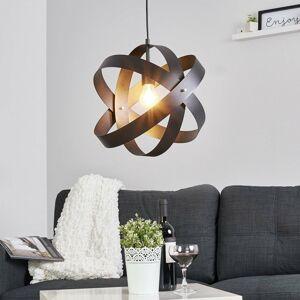 Lucande Čierne závesné LED svietidlo Cara s tromi kruhmi