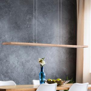 Lucande Závesné LED svietidlo Cyra prírodné drevo 98 cm