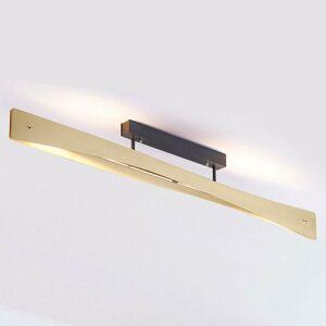 Lucande Lucande Lian stropné LED svietidlo, mosadz, čierna