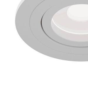 Maytoni Zapustené svetlo Atom, GU10, biely, okrúhly rám