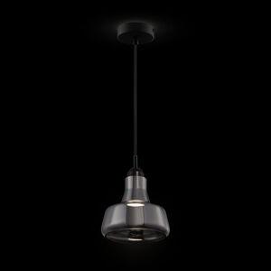 Maytoni Závesná lampa Ola sklenené tienidlo Ø 15cm dymová