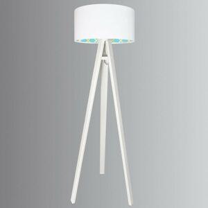 Maco Design Trojnohá stojaca lampa Tiana s dreveným rámom