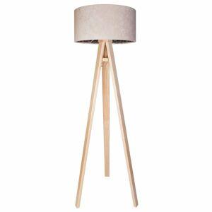 Maco Design Krémová stojaca lampa Natalia s vnútornou potlačou