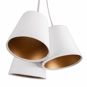 Maco Design Závesná lampa Ambrozja 3-pl., 2-farebné tienidlá