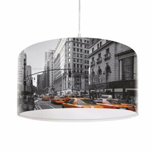 Maco Design Moderná závesná lampa City s fotopotlačou