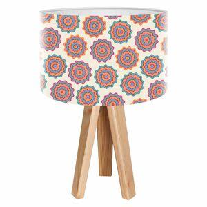 Maco Design Retro stolná lampa Sylke s potlačeným tienidlom