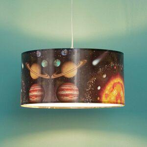 Maco Design Závesná lampa Space s potlačou vesmíru