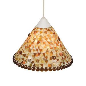 Näve Závesná lampa Enya Ø 28,5cm žltohnedá