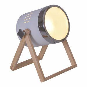 Näve Stolná lampa Tim bielo-strieborná