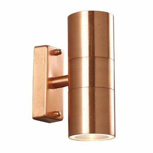 Nordlux Tin Double vonkajšie nástenné svietidlo z medi