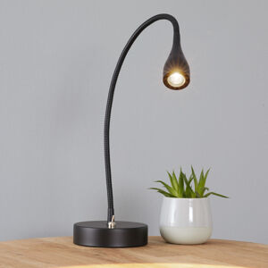 Nordlux Mento – ohybná stolná LED lampa, čierna