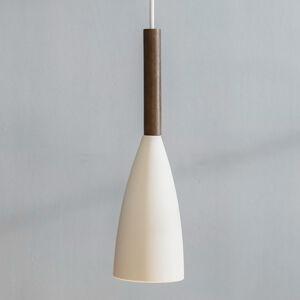Nordlux Závesná lampa Pure s dreveným prvkom, biela