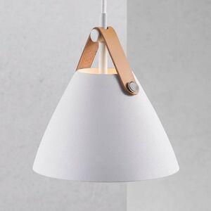 Nordlux Závesná lampa Strap, Ø 16,5cm, biela