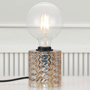 Nordlux Zo skla – stolná lampa Hollywood jantár