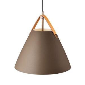 Nordlux Závesná lampa Strap kovové tienidlo béžová 27cm