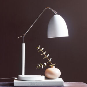 Nordlux Stolná lampa Alexander s kĺbmi, biela