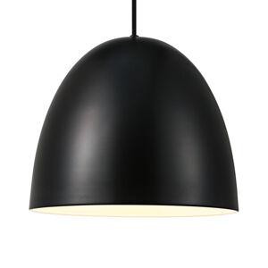 Nordlux Závesná lampa Alexander s kovovým tienidlom čierna