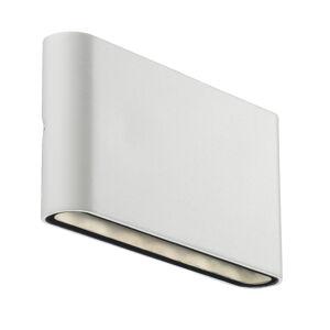 Nordlux Vonkajšie nástenné LED Kinver plochý tvar, biele