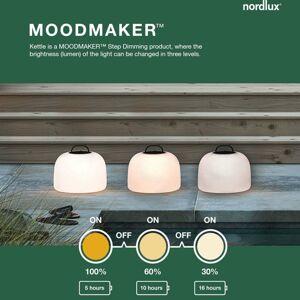 Nordlux LED stojaca lampa Kettle Tripod drevo/tienidlo36cm