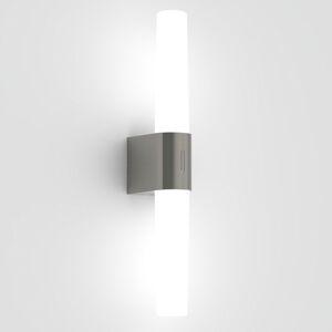 Nordlux Kúpeľňové LED svetlo Helva Double, brúsený nikel