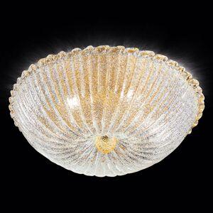 Novaresi Stropné svietidlo Budino zlaté, číre 50 cm