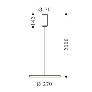 OLIGO OLIGO Decent Max závesné LED brúsený hliník