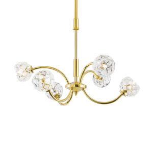 Orion Závesná lampa Maderno olovnatý krištáľ zlato 51cm