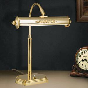 Orion Nostalgická stolná lampa Picture, pozlátená