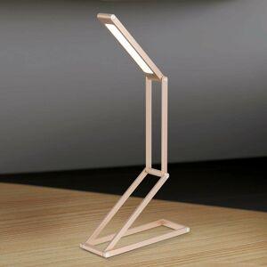 Orion Praktická stolná LED lampa Falto batéria zlatá