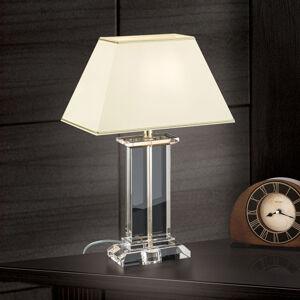 Orion Stolná lampa Veronique široký podstavec krém/zlatá