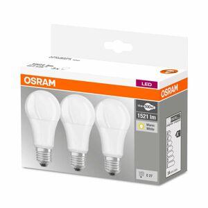 OSRAM LED žiarovka E27 14W teplá biela sada 3 ks