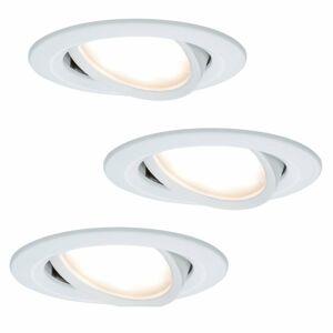 Paulmann Paulmann Coin Slim LED svietidlo IP23 biele 3 ks