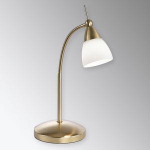 Paul Neuhaus Mosadzná stolná LED lampa Pino so stmievačom