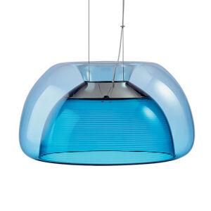 QisDesign Farebné závesné LED svietidlo Aurelia, modré