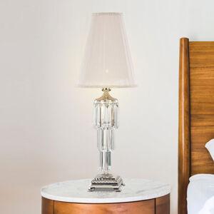 RIPERLamP Stolná lampa Sevilla s krištáľom, nikel lesklý