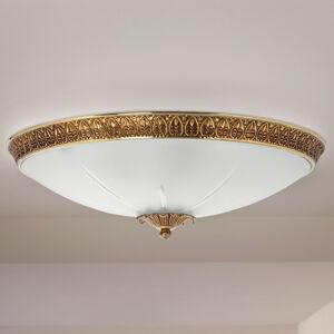 RIPERLamP Stropné svietidlo Azalea zlatá patina biela Ø 43cm
