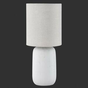 Reality Leuchten Kapučínová stolná lampa Clay s textilom