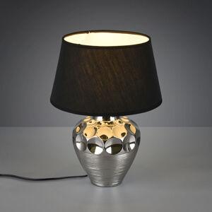 Reality Leuchten Stolná lampa Luanda, keramika a textil, Ø 30cm