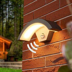 Lucande Vonkajšie nástenné LED svietidlo Jule so snímačom