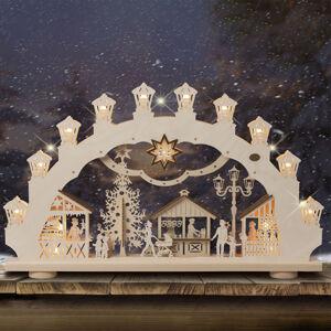 Saico Svetelný oblúk Vianočný trh 3D, 2 motívy