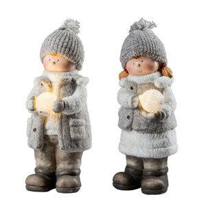 Saico Dekoračná lampa XL Zimné dieťa LED snehovou guľou