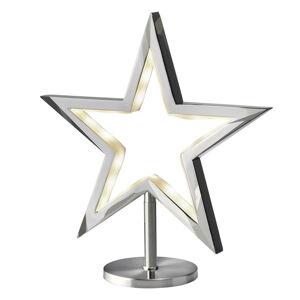 Sompex LED hviezda Lucy, stojaca lampa, chróm