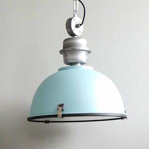 Steinhauer BV Svetlomodrá priemyselná závesná lampa Bikkel