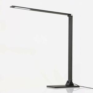 Steinhauer BV Čierna stolná LED lampa Serenade so stmievačom